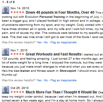 Shreveport Personal Trainer Real Google Reviews Preview